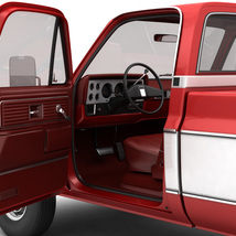 GENERIC 4WD PICKUP TRUCK 7 - Extended License image 7