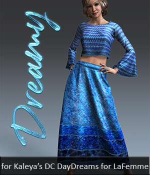 Dreamy DC DayDreams 3D Figure Assets La Femme Female Poser Figure Dream9Studios