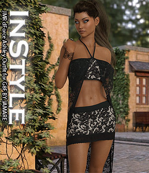 InStyle - JMR dForce Ashley Outfit for G8F 3D Figure Assets -Valkyrie-