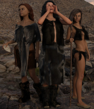 dForce Neolithic Outfits for Genesis 8 Female 3D Figure Assets Deacon215