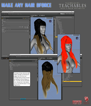 S1MD3D Teachables - Make Any Hair DForce Tutorials : Learn 3D Disciple3d