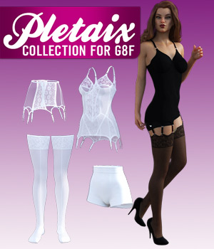 Pletaix Collection for G8F 3D Figure Assets powerage