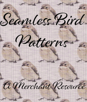 Seamless Bird Patterns 2D Graphics Merchant Resources adarling97