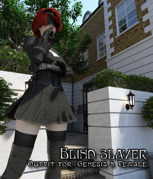Blind Slayer Outfit for Genesis 8 Female 3D Figure Assets Disciple3d