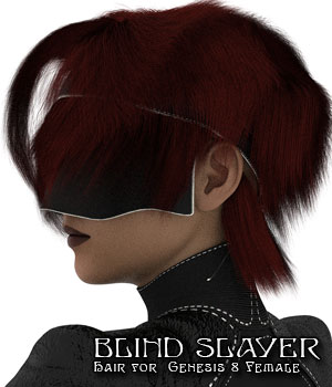 Blind Slayer Hair for Genesis 8 Female 3D Figure Assets Disciple3d