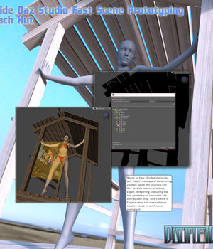 Inside Daz Studio - Fast Scene Prototyping - Beach Hut Tutorials : Learn 3D Disciple3d