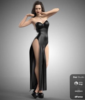dForce Hot Dress for Genesis 8 Females  3D Figure Assets B-Rock