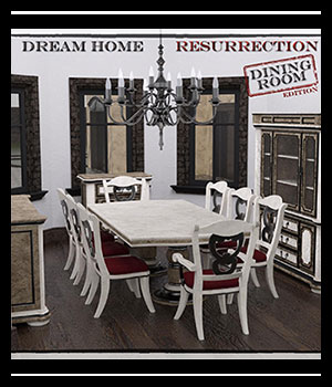 Dream Home Resurrection: Dining Room DS Iray 3D Figure Assets SabaTaru
