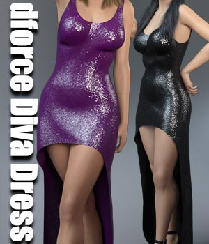 dforce Diva Dress 3D Figure Assets Calico