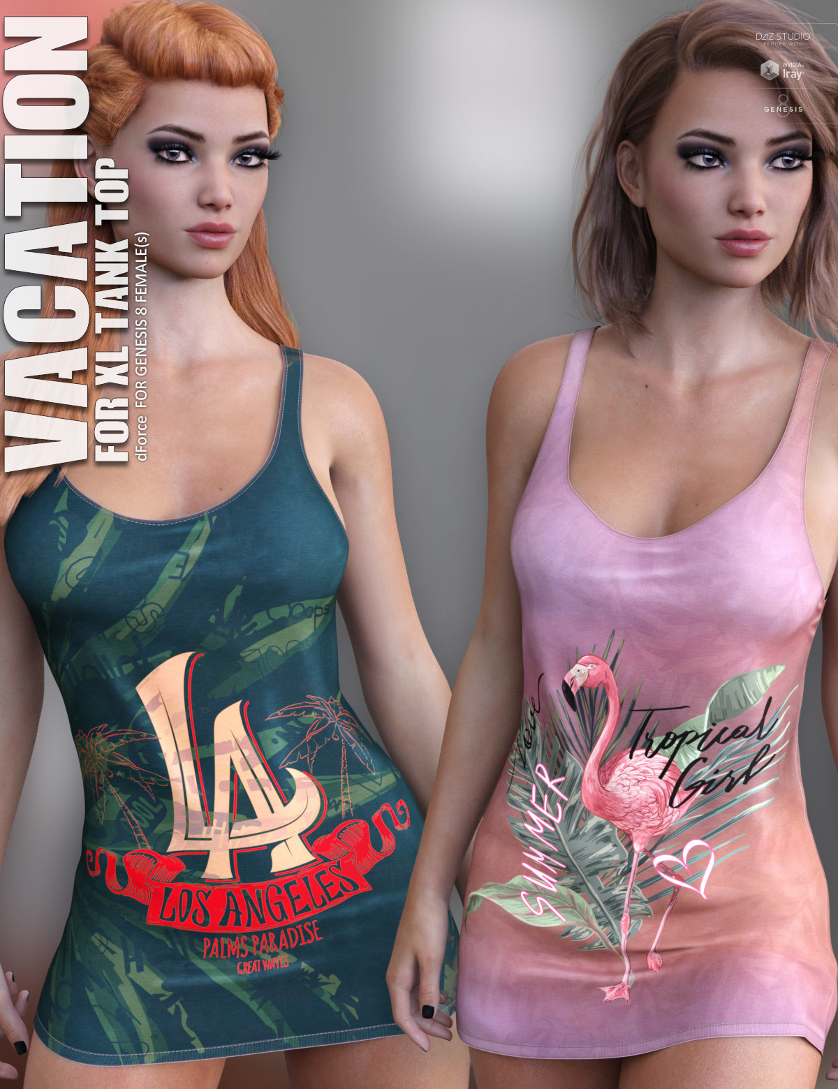Vacation for XL Tank Top