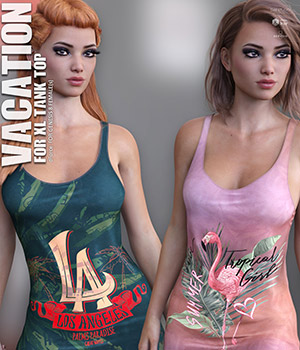 Vacation for XL Tank Top 3D Figure Assets lilflame