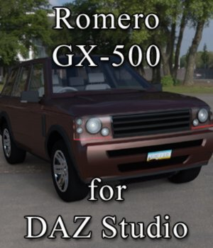 Romero GX-500 for DAZ Studio 3D Models VanishingPoint