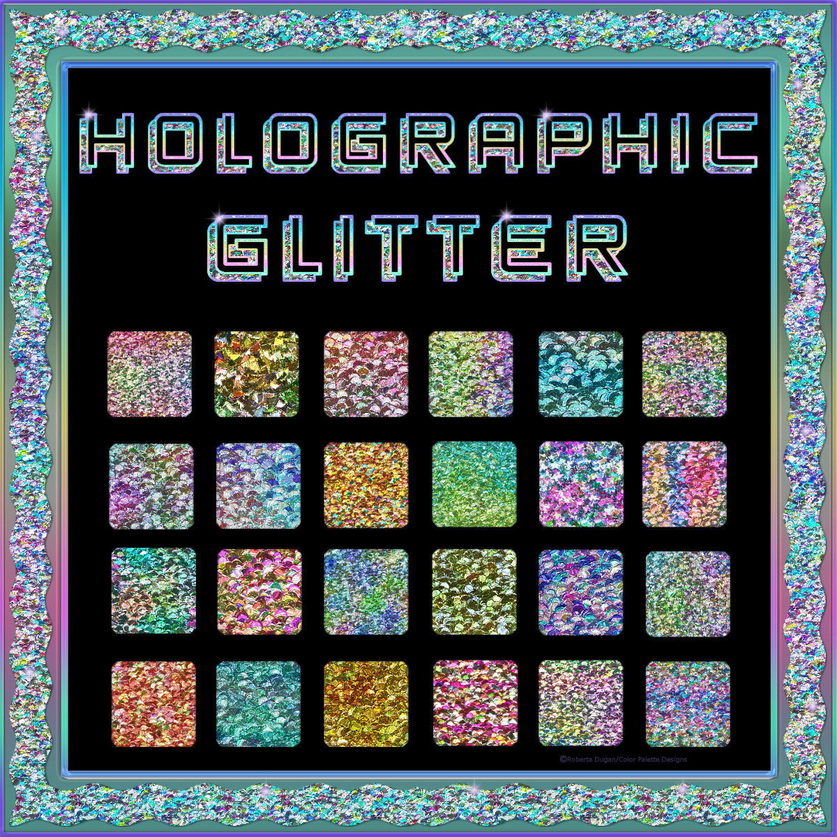 Bling Glamour Glitter HOLOGRAPHIC PS Layer Styles