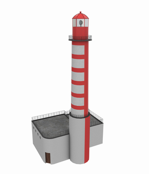 Light House East Mall -Extended License 3D Game Models : OBJ : FBX 3D Models Extended Licenses pukamakara
