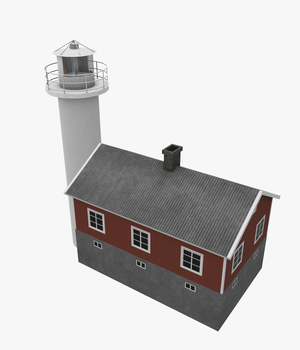 Light House Haken  - Extended License 3D Game Models : OBJ : FBX 3D Models Extended Licenses pukamakara