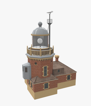 Light House Helsingborg - Extended License 3D Game Models : OBJ : FBX 3D Models Extended Licenses pukamakara