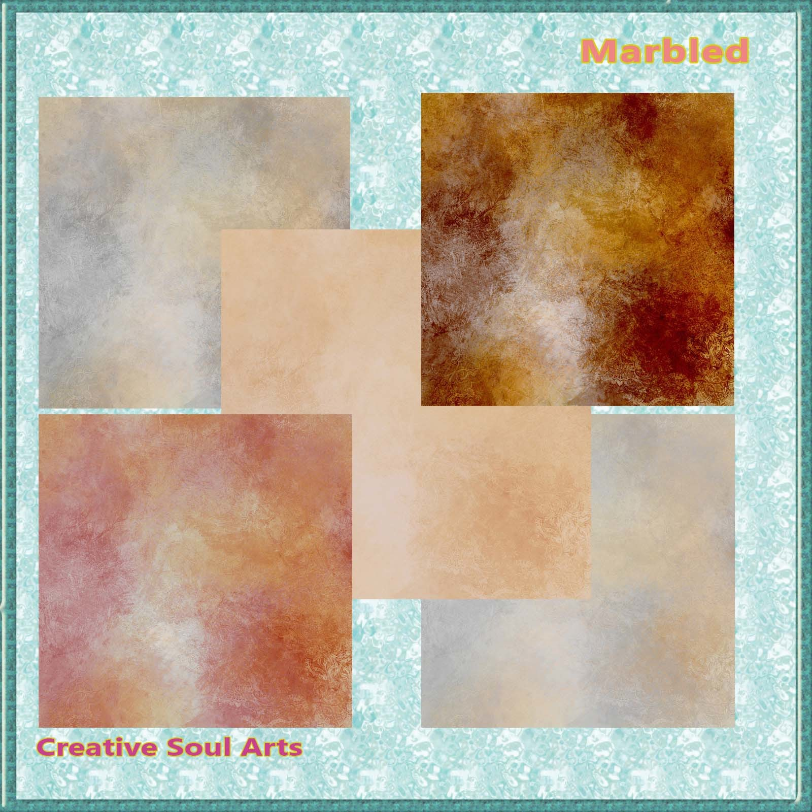 CSA Digital Backgrounds Backdrops Textures: Marbled