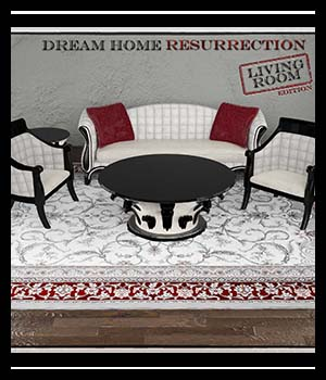 Dream Home Resurrection Living Room DS Iray 3D Figure Assets SabaTaru