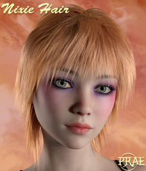 Prae-Nixie Hair For G3/G8 Daz   3D Figure Assets prae