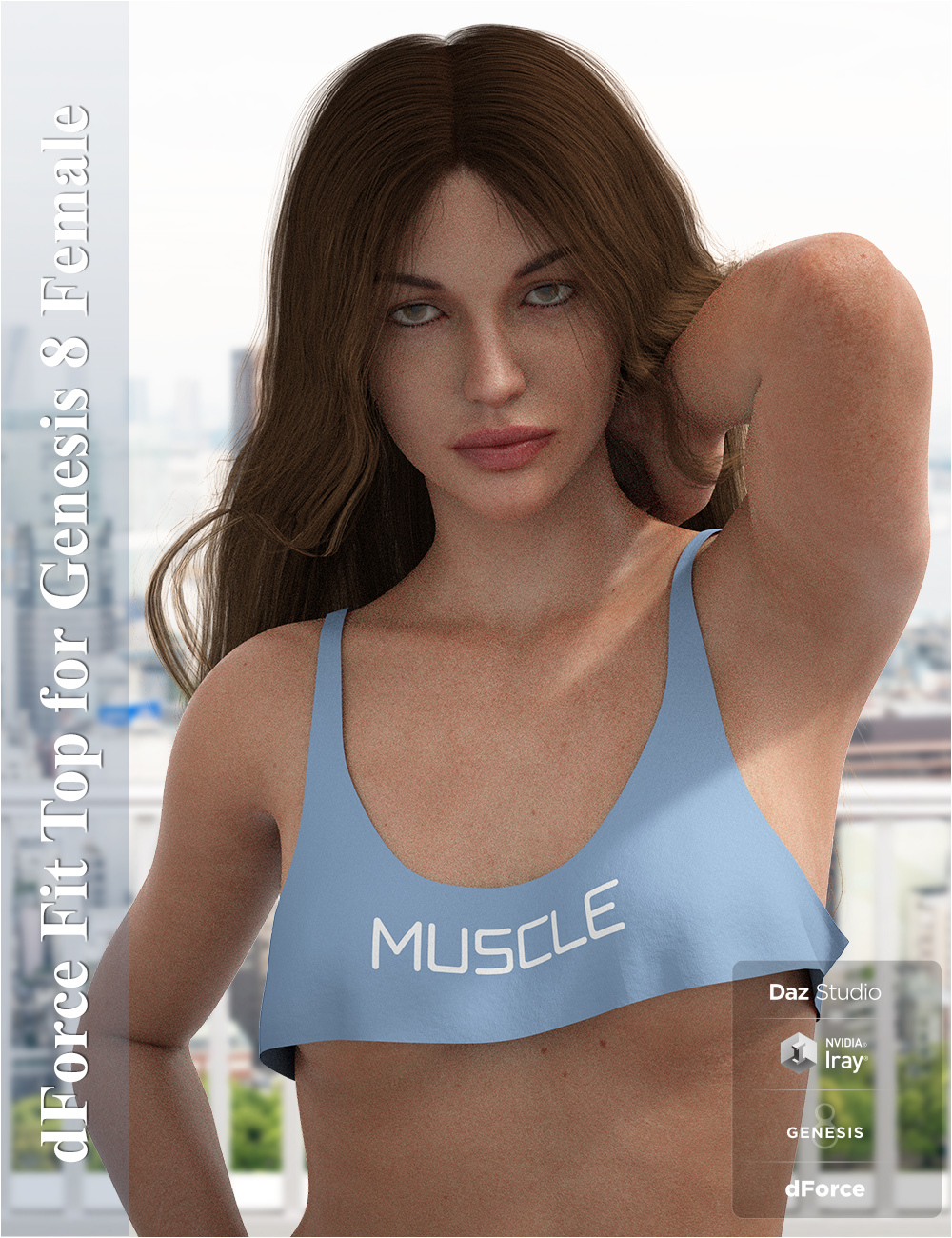 dForce Fit Top for Genesis 8 Female by Imaginary3D