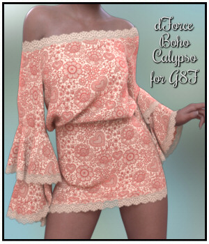 dForce - Boho Calypso for G8F 3D Figure Assets Lully