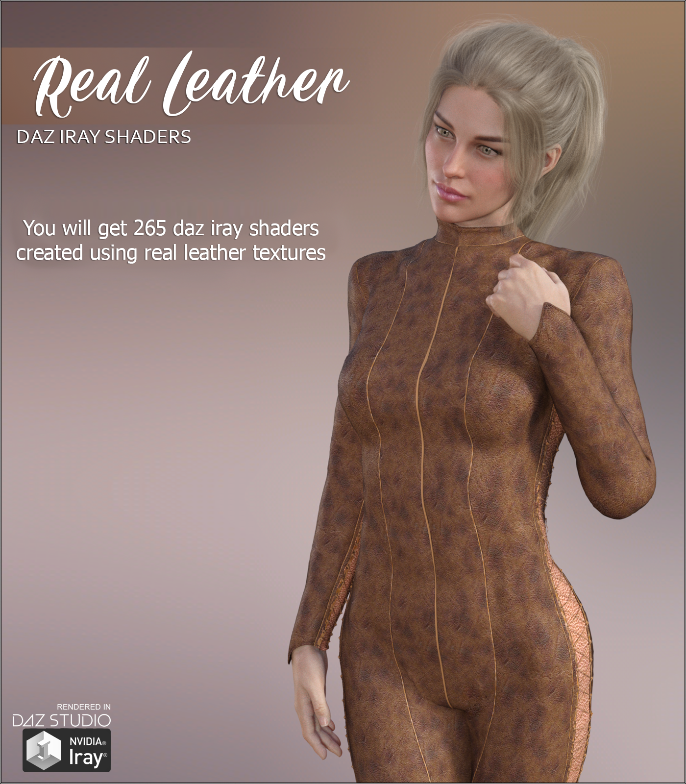 Daz Iray - Real Leather by Atenais