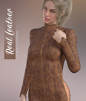 Daz Iray - Real Leather 2D Graphics Merchant Resources Atenais