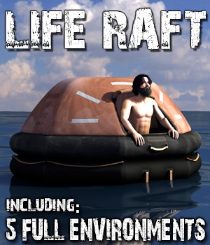 Life Raft for Poser and DS 3D Models coflek-gnorg