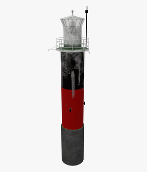 Light House Pinhatten -Extended License 3D Game Models : OBJ : FBX 3D Models Extended Licenses pukamakara