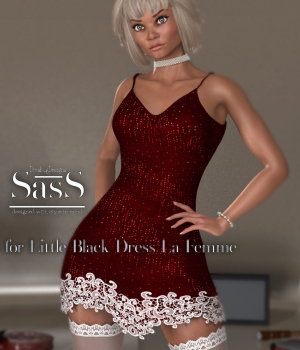 SasS Little Black Dress_La Femme 3D Figure Assets La Femme Pro - Female Poser Figure DivabugDesigns