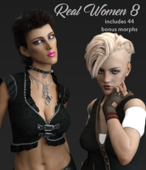 Real Women 8 3D Figure Assets AliveSheCried