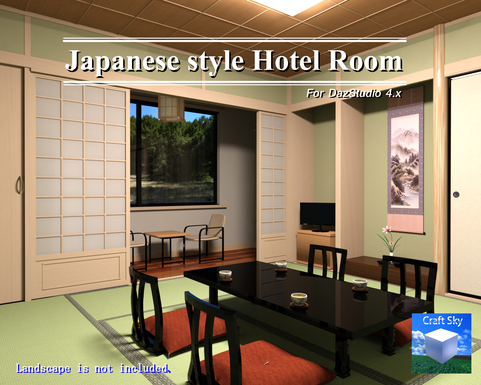 Fine Traditional Japanese Style Inn Room For Dazstudio 3D Models Download Free Architecture Designs Xaembritishbridgeorg