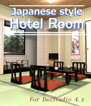 Traditional Japanese-style inn room for DazStudio 3D Models CraftSky