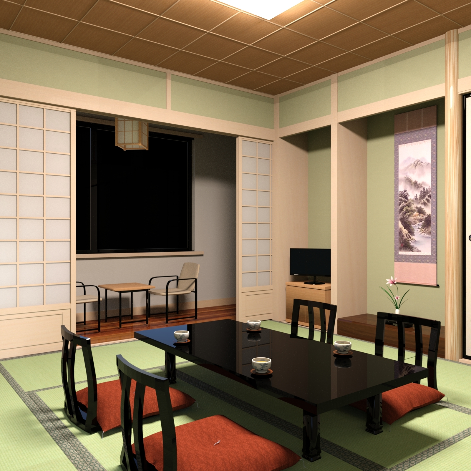 Stupendous Traditional Japanese Style Inn Room For Dazstudio 3D Models Download Free Architecture Designs Xaembritishbridgeorg