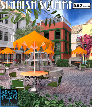 Spanish Square for Daz Studio 3D Models BlueTreeStudio