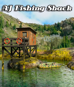 AJ Fishing Shack 3D Models -AppleJack-