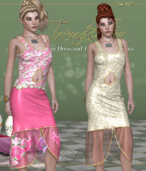 DA-Trendsetter for V4 Leandra Dress 3D Figure Assets DarkAngelGrafics