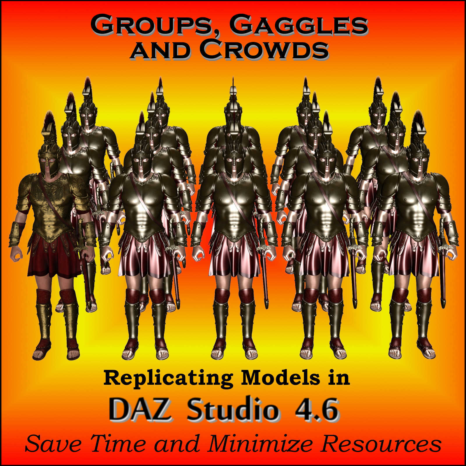 GROUPS, GAGGLES and CROWDS for Daz Studio 4.6
