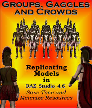 GROUPS, GAGGLES and CROWDS for Daz Studio 4.6 Legacy Discounted Content Tutorials : Learn 3D Winterbrose
