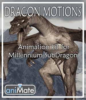 Dragon Motions for Millennium Sub-Dragon 3D Figure Assets AnyMatter