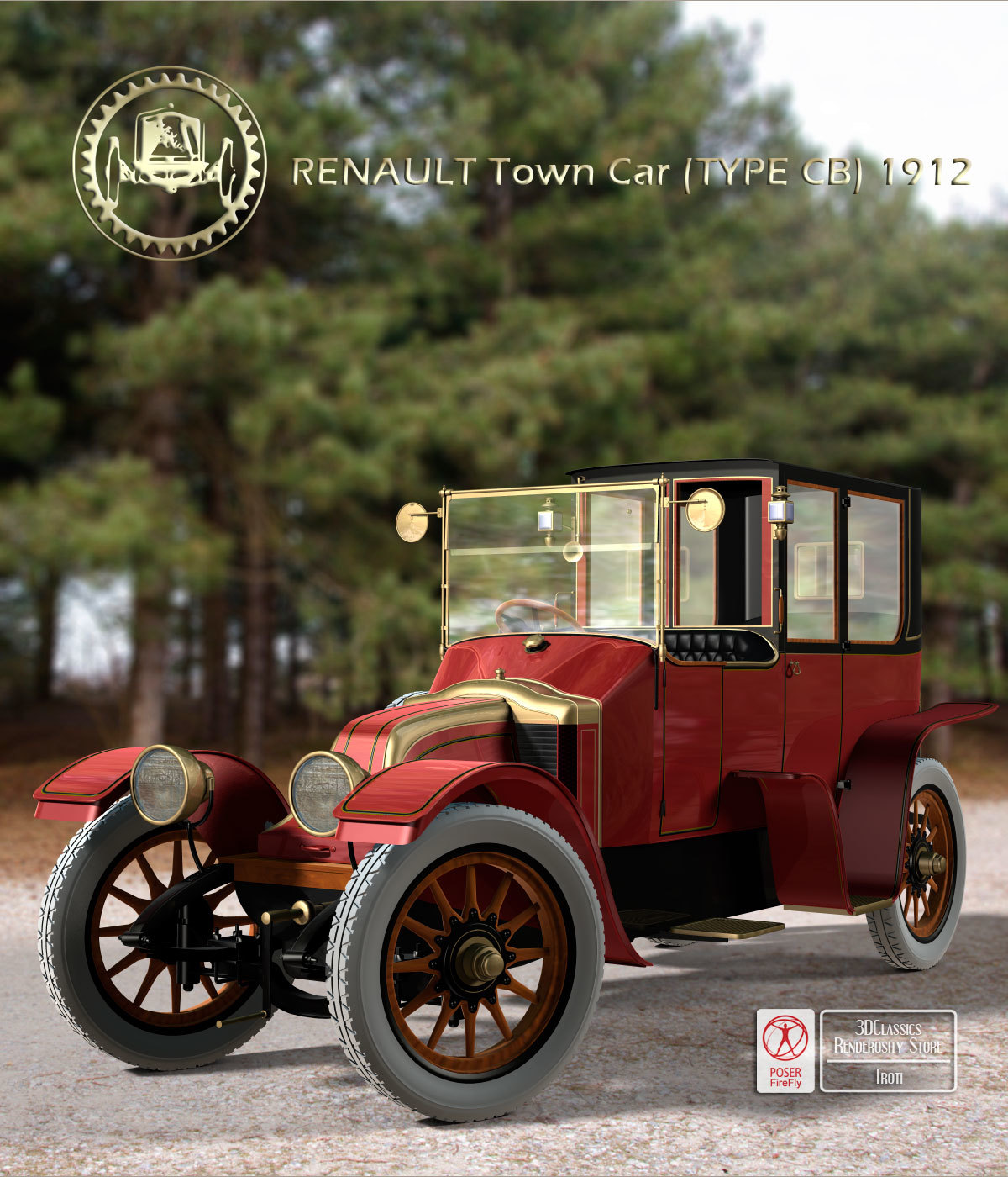 RENAULT TOWN CAR 1912 by 3DClassics