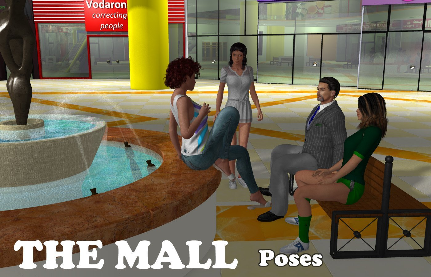The Mall poses