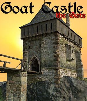 Goat Castle - The Gatehouse 3D Models Cybertenko