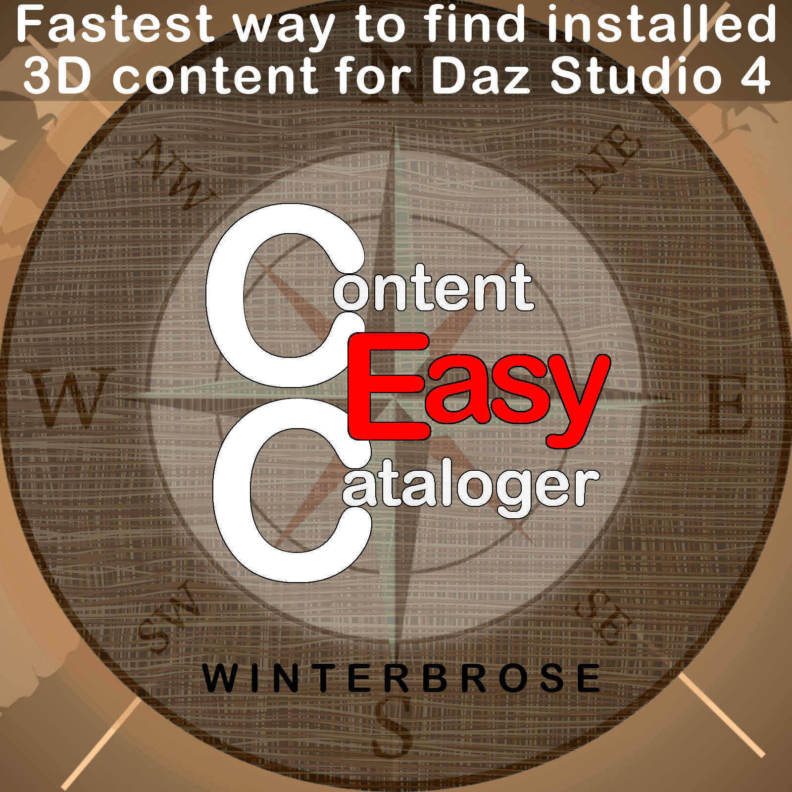Content Cataloger Easy - Software for Windows, Daz Studio Edition