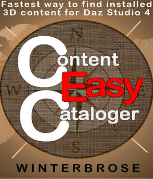 Content Cataloger Easy - Software for Windows, Daz Studio Edition 3D Software : Poser : Daz Studio Winterbrose