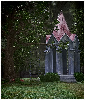 Gothic Garden Folly 3D Models RPublishing