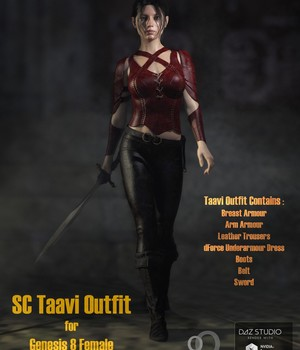 SC Taavi Armour for Genesis 8 Female 3D Figure Assets secondcircle