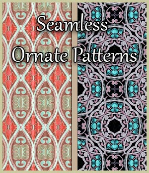 Seamless Ornate Patterns 2D Graphics Merchant Resources adarling97