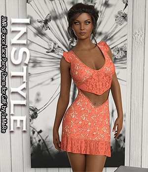 InStyle - JMR dForce Lace Party Dress for G8F 3D Figure Assets -Valkyrie-