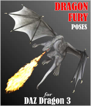 DRAGON FURY Aerial and Ground Combat Poses for Daz Dragon 3 in DS4 3D Figure Assets Winterbrose